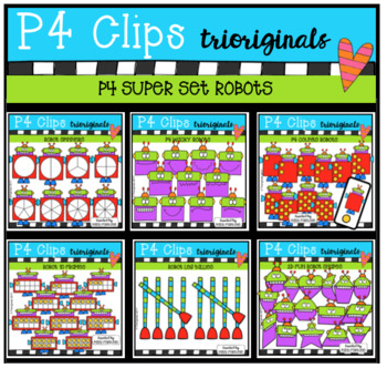 P4 SUPER SET Robots (P4 Clips Trioriginals Clip Art)