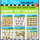P4 SUPER SET School Buses (P4 Clips Trioriginals Digital Clip Art)