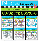 P4 SUPER SET Snowmen (P4 Clips Trioriginals Digital Clip Art)