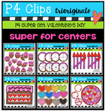 P4 SUPER SET Valentine's Day (P4 Clips Trioriginals) Clip Art