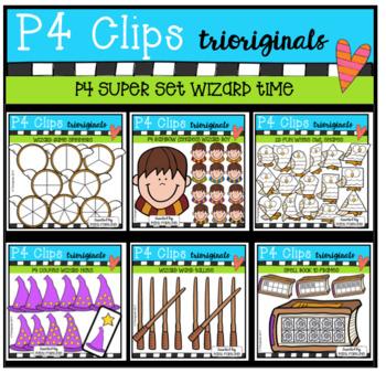 P4 SUPER SET Wizard Time (P4 Clips Trioriginals Clip Art)