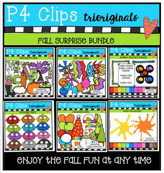 P4 SURPRISE SET FALL{P4 Clips Trioriginals Digital Clip Art}
