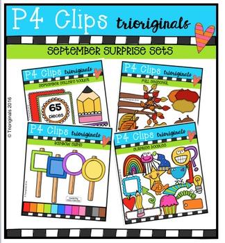 P4 SEPTEMBER BUNDLE {P4 Clips Trioriginals Digital Clip Art}