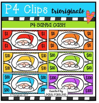 P4 Santa CASH (P4 Clips Triorgiinals Clip Art)