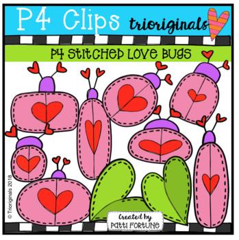 P4 Stitched Love Bugs (P4 Clips Trioriginals)