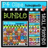 P4 Troll Friends BUNDLE (P4 Clips Trioriginals Digital Clip Art)