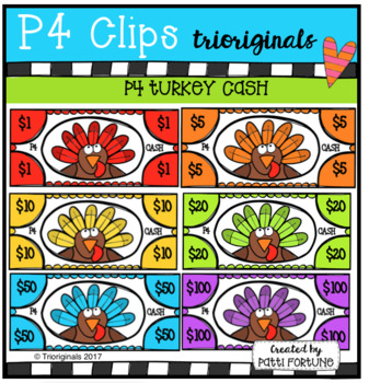 P4 Turkey CASH (P4 Clips Trioriginals CLip Art)