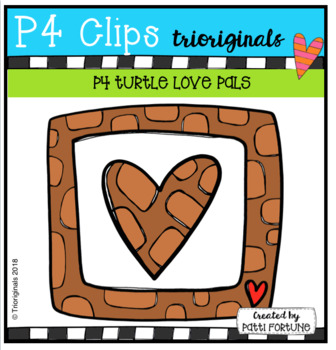 P4 Turtle LOVE PALS (P4 Clips Trioriginals)