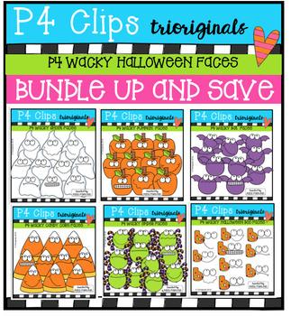 P4 WACKY Halloween BUNDLE (P4 Clips Trioriginals Digital Clip Art)