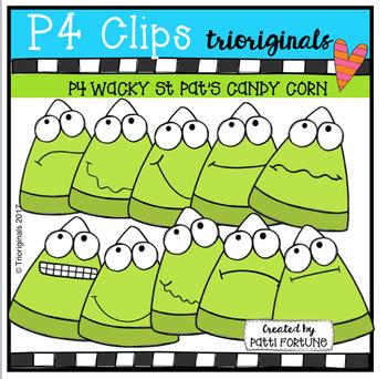 P4 WACKY Holiday Candy Corn BUNDLE (P4 Clips Trioriginals Clip Art)