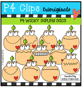 P4 WACKY Tree Saplings EARTH DAY (P4 Clips Trioriginals)