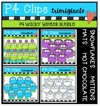 P4 WACKY Winter BUNDLE (P4 Clips Trioriginals Digital Clip Art)