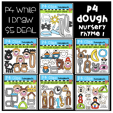 P4 DOUGH Nursery Rhyme BUNDLE #1 (P4 Clips Trioriginals) LITERACY CLIPART