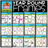 Year Round Frames BUNDLE (P4 Clips) SEASONAL CLIP ART