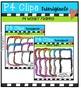 P4 WONKY Frames BUNDLE (P4 Clips Trioriginals Digital Clip Art)