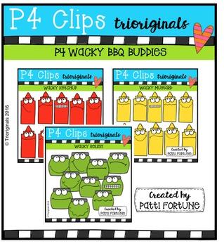 P4 WACKY BBQ Buddies Bundle {P4 Clips Trioriginals Digital Clip Art}
