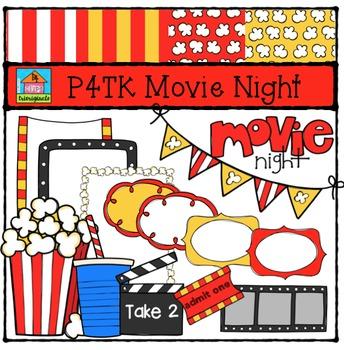 P4TK Movie Night {P4 Clips Trioriginals Digital Clip Art}