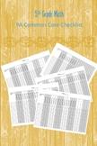 PA 5th Grade Math Common Core Checklist