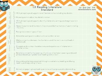PA Common Core Checklist--ELA Kindergarten {Owl Theme}