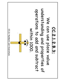 """PA Common Core Math """"We Can Standard Statements"""" (2nd Grade)"""