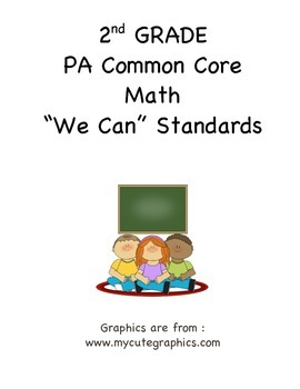 "PA Common Core Math ""We Can Standard Statements"" (2nd Grade)"