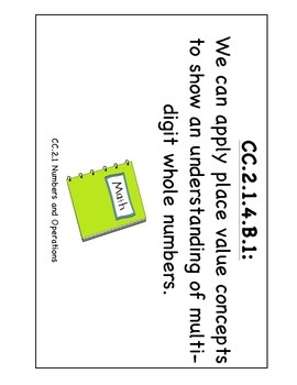 """PA Common Core Math """"We Can Standard Statements"""" (4th Grade)"""