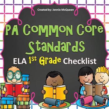 PA Common Core Standards Checklist: 1st Grade ELA