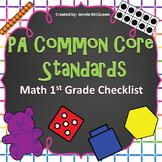 PA Common Core Standards Checklist: 1st Grade Math