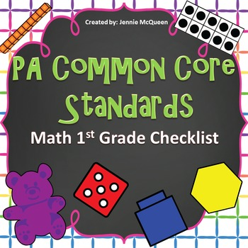 PA Common Core Standards Checklist: 1st Grade Math