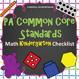 PA Common Core Standards Checklist: Kindergarten Math