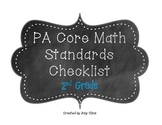 PA Core Standards Math Checklist-2nd Grade