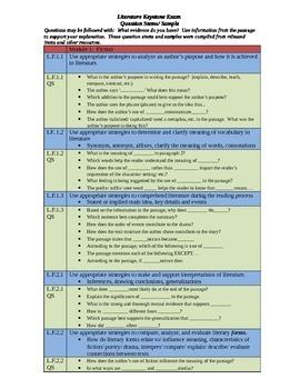 PA Literature Keystone Exam Question Stems Module 1