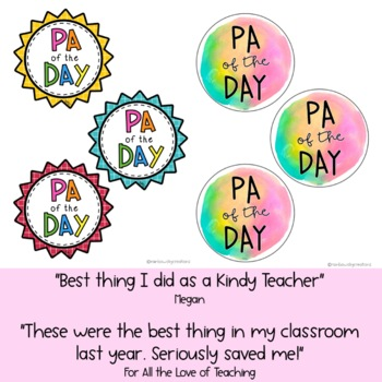 PA of the Day - Badge Template { Free Download}