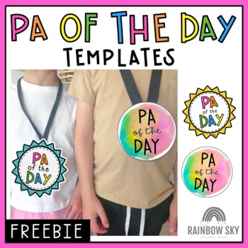 PA Of The Day Badge Template Free Download By Rainbow Sky Creations