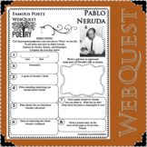 PABLO NERUDA Poet WebQuest Research Project Poetry Biography Notes