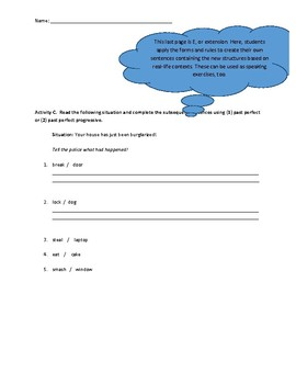 PACE Approach to Teaching Grammar Inductively (Sample)