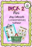 PACK 2 Coles Mini Shop Collectable Editable Resource