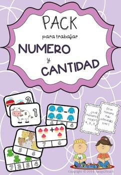 PACK número y cantidad