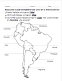 PACK of 4 partner maps for Spanish: Central and South Amer
