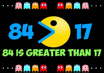 PACMAN - GREATER THAN LESS THAN WALL DISPLAY