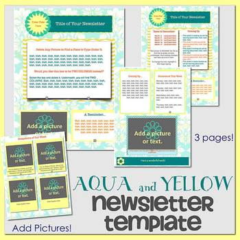 PAGES - AQUA AND ORANGE theme - Newsletter Template