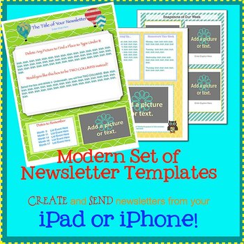 pages modern newsletter template set create on the go using