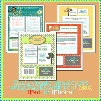 PAGES Modern Newsletter Template Set - Create on the Go Using iPhones & iPads!