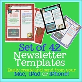 PAGES Set of 42 Newsletter Templates - Create on the Go Using iPhones & iPads!