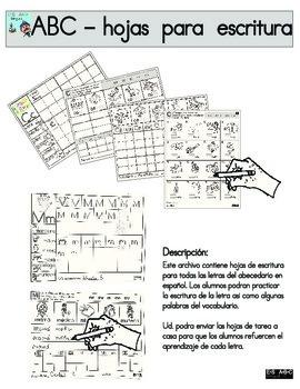 PAGINAS DE ESCRITURA DEL ABC