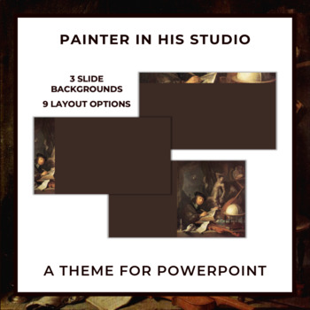 PAINTER IN HIS STUDIO Theme for PowerPoint