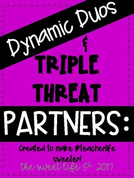 PAIR UP:  Dynamic Duos and Triple Threats