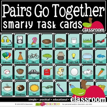 PAIRS: GO TOGETHERS- SMARTY TASK CARDS