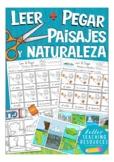 PAISAJES y NATURALEZA Cut & Glue (leer & pegar), Spanish v