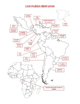 PAISES HISPANOS map